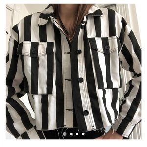 TopShop B&W Striped Jacket